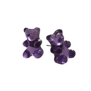 Purple Gummy bear Dolls Kill stud earrings
